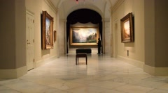Inside the National Portrait Gallery in Washington, DC Stock Footage