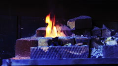 Forging Fire For Heating Metal - stock footage