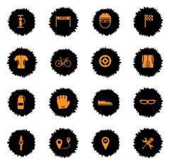 Bycicle simply icons - stock illustration