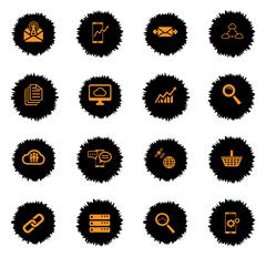 Data analytic simply icons - stock illustration