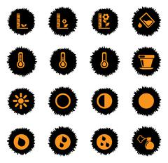 Plant Growing Sign Silhouette Icons Stock Illustration