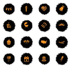 Stock Illustration of Independence day simply icons