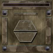Metal box surface or alien surface - stock illustration
