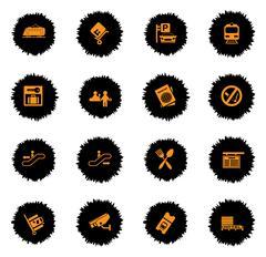Train station symbols Piirros