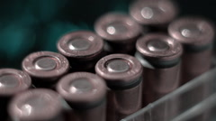 Boxing with the rows of new, not shooting bullet caliber 9mm. Closeup Stock Footage