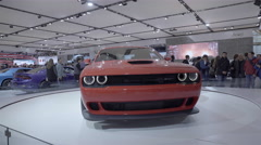 Stock Video Footage of 2016 Dodge Challenger SRT. 2016 Toronto International Auto Show.