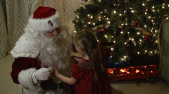 Christmas Eve Visit from Santa Claus - stock footage