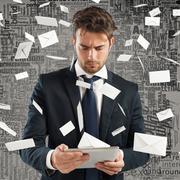 Stressed spam Stock Photos