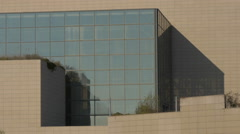 Close view of the Museum of Contemporary Art in Zagreb, Croatia - stock footage