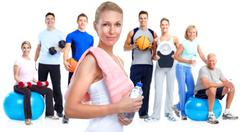 Group of fitness people. Kuvituskuvat