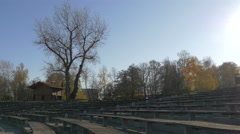 Stock Video Footage of Beautiful view of an outdoor amphitheatre in Zagreb, Croatia