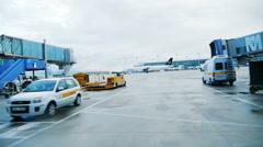 German Airport Munich airport Stock Footage