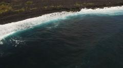 Aerial shot of lava rock field in Hawaii Arkistovideo