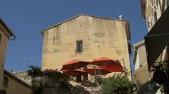 Restaurant La Fontaine in Saint-Paul-de-Vence Stock Footage