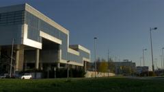Museum of Contemporary Art on Avenija Dubrovnik street, Zagreb, Croatia - stock footage
