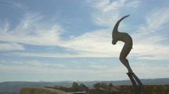 The Flight (L'Envol) sculpture in Saint-Paul-de-Vence Stock Footage