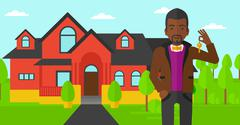 Real estate agent with key Stock Illustration