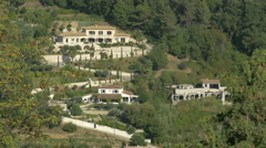 Beautiful houses seen from Saint-Paul-de-Vence Stock Footage