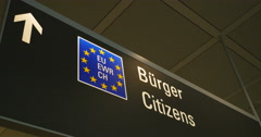 Eu border European Union Customs Stock Footage