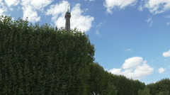 The world famous Eiffel Tower in natural light - stock footage