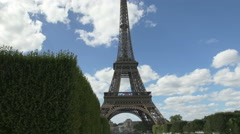 The world famous Eiffel Tower in natural light in the afternoon - stock footage
