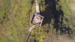 EPIC AERIAL SHOTS OF GREAT WALL OF CHINA AND FOREST - JIN SHAN LING - stock footage