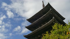 Yasaka pagoda, Kyoto, Japan Stock Footage