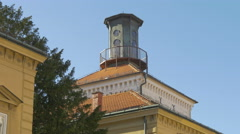 Beautiful view of the top of Kula Lotrscak in Zagreb, Croatia Stock Footage