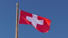 Flag Switzerland Stock Footage