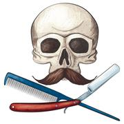 Barber Jolly Roger Stock Illustration