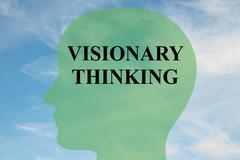 Visionary thinking concept Stock Illustration