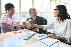 Business team work meeting to conflict problem solution with good condition,s Stock Photos