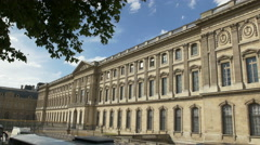 Exterior shots of Louvre Palace Stock Footage