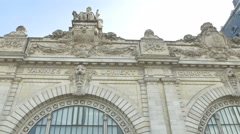 Old Gare building in Paris Stock Footage