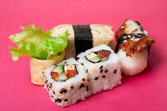 Traditional Japanese food Sushi Stock Photos