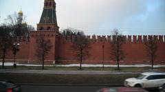 Moscow, Russia - Metro station Kievskaya circular Stock Footage