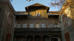 View of a beautiful old building in Zagreb, Croatia - stock footage