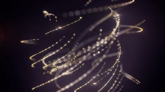Abstract moving lines creating elegant ball shaped element with drops of dew on Stock Footage