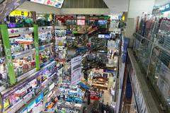 Most famous Bangkok electronics mall for electronics, technology, computers. Kuvituskuvat