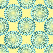 Spinning Blue Rings Optical Illusion Seamless Pattern Stock Illustration
