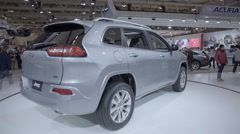 2016 Jeep Cherokee. 2016 Toronto International Auto Show. - stock footage