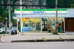 Family Mart store in Krabi, Thailand Stock Photos