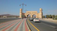 Gat to Nizwa, Sultanate of Oman Stock Footage