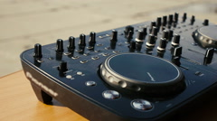 DJ Audio production console in sound-recording studio Stock Footage