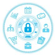 Information Security Concept Stock Illustration