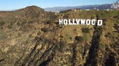 High quality aerial shot of Hollywood sign - Los Angeles Arkistovideo