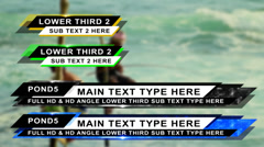 Stock After Effects of Angle Lower Third Pack