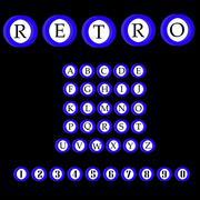 Stock Illustration of Retro alphabet vector font. ABC letters.