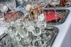 Antique Glassware - stock photo