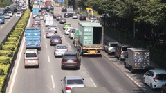 Chinese Shenzhen section of 107 National Highway Traffic landscape Stock Footage